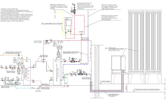 Układ hydrauliczny - resublimacyjna pompa ciepła