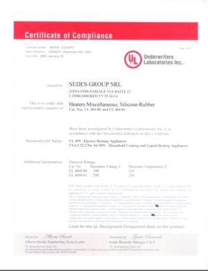 UL Certificate E234473